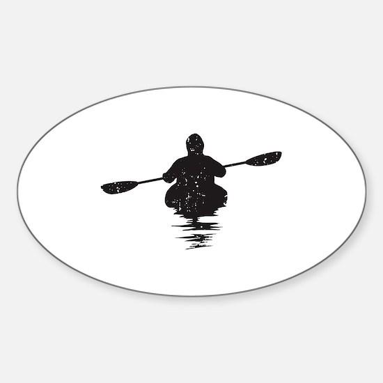 Kayaking Sticker (Oval)