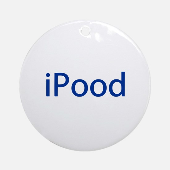 iPood Funny Blue Ornament (Round)