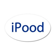 iPood Funny Blue Wall Decal