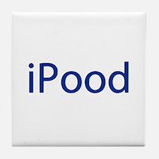 iPood Funny Blue Tile Coaster