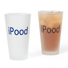 iPood Funny Blue Drinking Glass