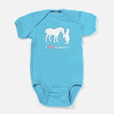 Horse & Girl I Heart Horses Baby Bodysuit