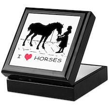 Horse & Girl I Heart Horses Keepsake Box