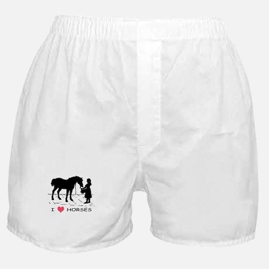 Horse & Girl I Heart Horses Boxer Shorts