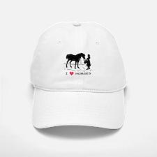 Horse & Girl I Heart Horses Baseball Baseball Cap