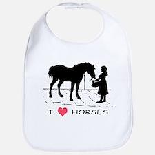 Horse & Girl I Heart Horses Bib