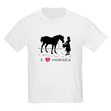 Horse & Girl I Heart Horses T-Shirt