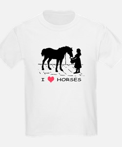 Horse & Girl I Heart Horses T-Shirt