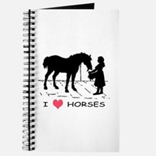 Horse & Girl I Heart Horses Journal