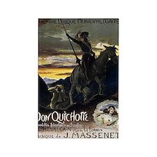 Vintage Don Quixote Rectangle Magnets