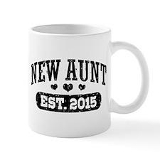 New Aunt Est. 2015 Small Mugs