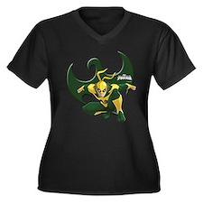 Ultimate Spi Women's Plus Size V-Neck Dark T-Shirt