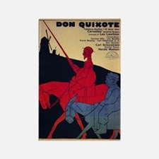 Don Quixote Film Poster Rectangle Magnets