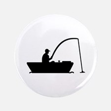 """Angler Fisher boat 3.5"""" Button (100 pack)"""
