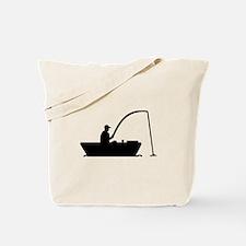 Angler Fisher boat Tote Bag