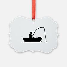 Angler Fisher boat Ornament