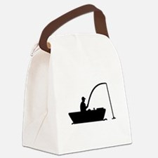 Angler Fisher boat Canvas Lunch Bag