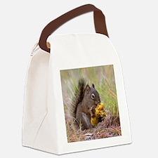 Happy Squirrel & Prized Mushroom Canvas Lunch Bag