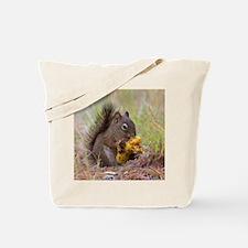 Happy Squirrel & Prized Mushroom Tote Bag