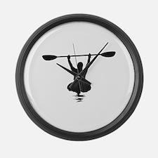 Kayaking Large Wall Clock