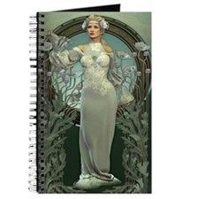 Art Nouveau White Lady Journal