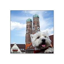 """Nelly in München Square Sticker 3"""" x 3"""""""