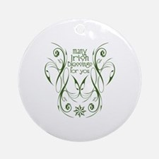 Many Irish Blessings For You Ornament (Round)