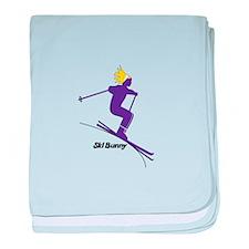 Ski Bunny baby blanket