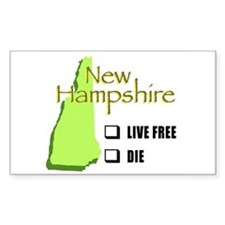 Live Free New Brown no check Decal