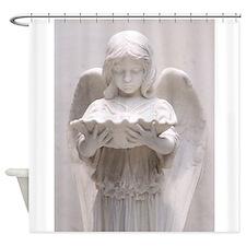Solemn Angel Shower Curtain