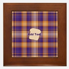 Peanut Butter and Jelly Plaid bread Framed Tile