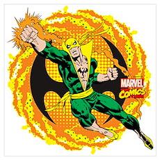 Marvel Iron Fist Action Wall Art Poster