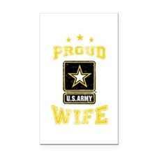 US Army proud Wife Rectangle Car Magnet
