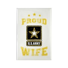 US Army proud Wife Rectangle Magnet