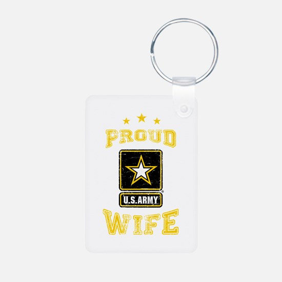 US Army proud Wife Keychains