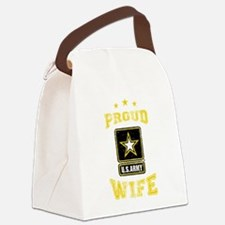 US Army proud Wife Canvas Lunch Bag