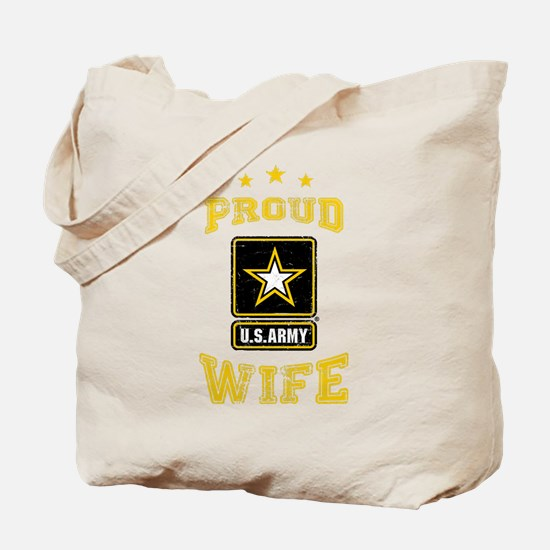US Army proud Wife Tote Bag