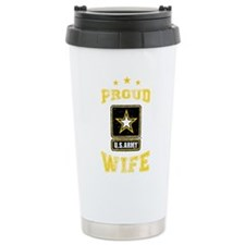 US Army proud Wife Travel Mug