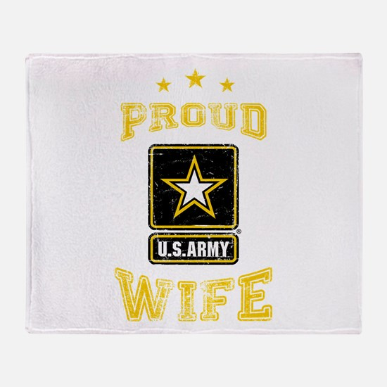 US Army proud Wife Throw Blanket