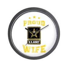 US Army proud Wife Wall Clock