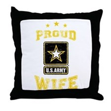 US Army proud Wife Throw Pillow