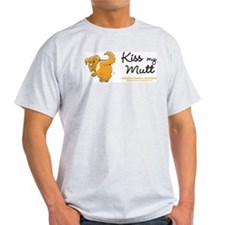Kiss My Mutt Ash Grey T-Shirt