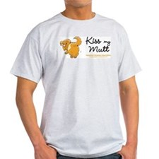 Kiss My Mutt Ash Grey T-Shirt