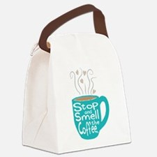 Stop and Smell the Coffee Canvas Lunch Bag