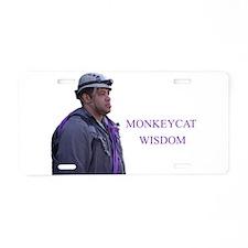 monkeycatWisdom Aluminum License Plate