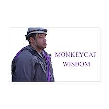 monkeycatWisdom Rectangle Car Magnet