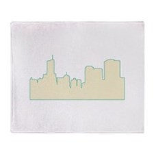 Chicago City Scape Throw Blanket