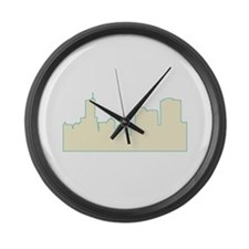 Chicago City Scape Large Wall Clock
