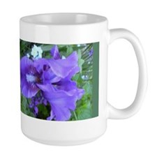 Purple Iris Ceramic Mugs