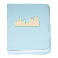 Chicago City Scape baby blanket